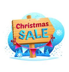 christmas sale vector image vector image