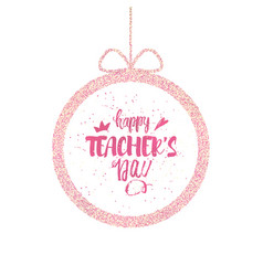 Happy teacher s day greeting card brilliant frame vector