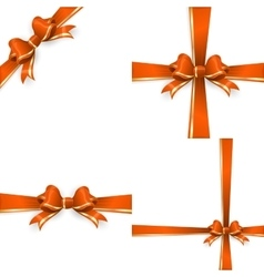 Orange gold bow templates EPS 10 vector image vector image