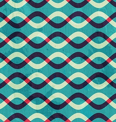 retro curve seamless pattern with grunge effect vector image