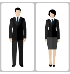 Woman and man vector image vector image