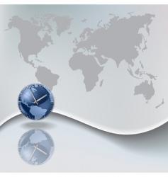 world clock vector image vector image