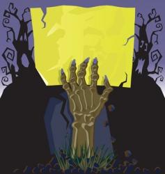 zombie hand invitation vector image vector image