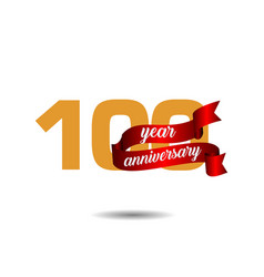 100 year anniversary template design vector