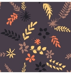 abstract seamless pattern with flowers and vector image vector image