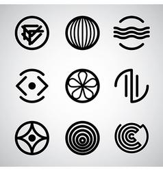 Abstract symbols set 3 vector