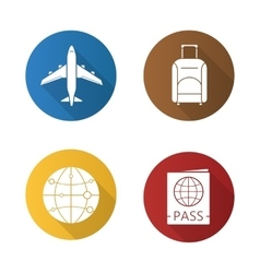 Air travel icons vector image