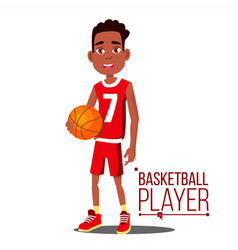 basketball player child afro american vector image