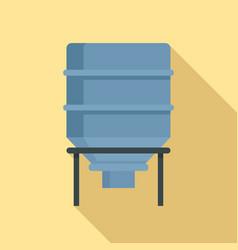 Bread flour tank icon flat style vector