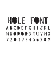 careless decorative letters written hand vector image