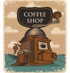 Coffee grinder coffee shop vector