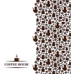 Coffee vertical vector