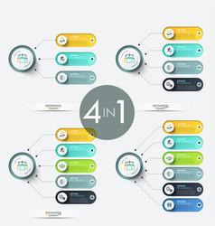 colorful infographic design templates vector image