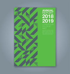 cover annual report 1199 vector image