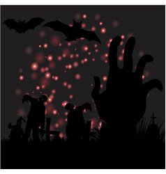 creative design for happy halloween background vector image