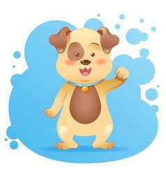 Cute cartoon dog toy card vector image