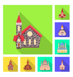 design cult and temple icon collection vector image
