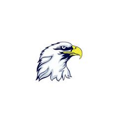 eagle head mascot logo design vector image