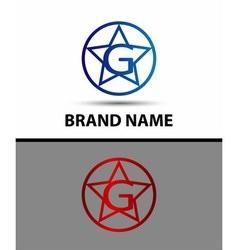 Elegant alphabet star element Letter g vector