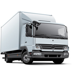 European delivery truck vector