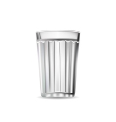 Facet Glass Tumbler isolated vector image