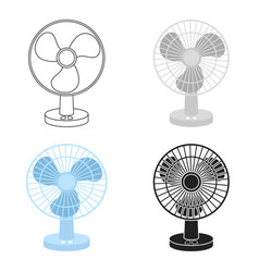 Fan icon in cartoon style isolated on white vector