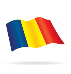 flying flag romania vector image