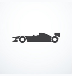 Formula car icon vector