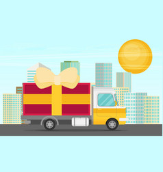 Free delivery concept in flat style - for banner vector