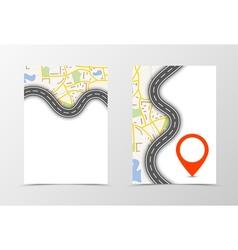 Front and back navigation flyer template design vector