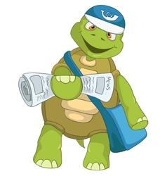 Funny Turtle Postman vector image vector image