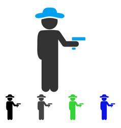 Gentleman robber flat icon vector