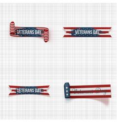 Greeting veterans day ribbons vector