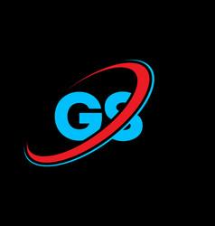 gs g s letter logo design initial letter gs vector image