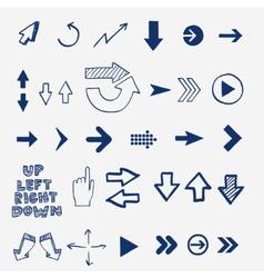 Hand draw doodle sketch arrows - pointers cursors vector