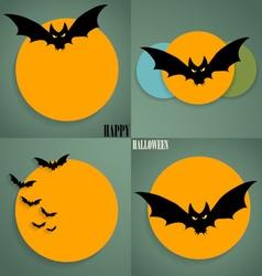 Happy Halloween design background Cute note paper vector