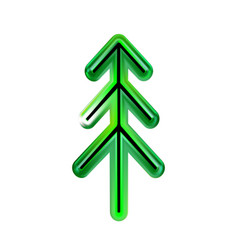 Happy new year from plastic or christmas tree of vector
