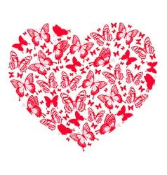 Heart of butterflies vector image