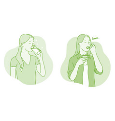 heath eating and drinking concept vector image