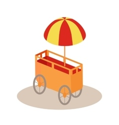 Ice-Cream Trolley Isometric Icon vector