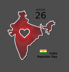 India happy republic day poster background vector