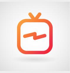 instagram ig tv logo with white background eps vector image