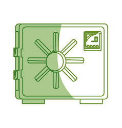 isolated money security box vector image