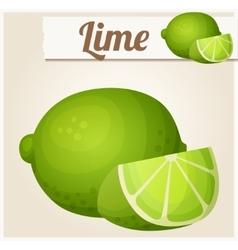 Lime Detailed icon vector