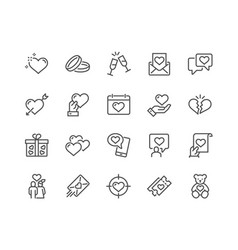 line love icons vector image
