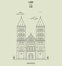 lund cathedral vector image