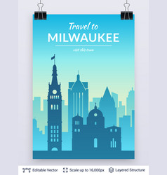 milwaukee famous city scape vector image
