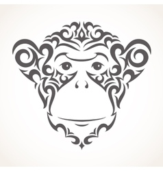Monkey Tribal style vector