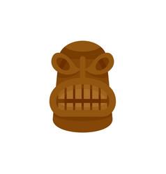 Native idol icon flat style vector