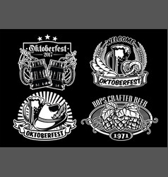 Oktoberfes badge design collection in black and vector